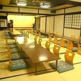 最大100名様まで収容可能。ステージ付きで催しの実施にぴったりです◎35名席の3部屋に分けて使うことも可能です。(2Fの席です)