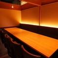 ゆったりと寛げる個室は、ビジネスシーンはもちろん友人とのお食事等のプライベートシーンにもおすすめです。