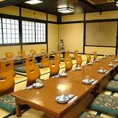 【月の間】最大50名様収容可能。仕切りで25名席と20名席の2部屋に分けて使うことも可能です◎(2Fの席です)