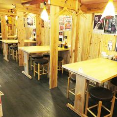 テーブル席は16席ございます!ご家族やご友人、会社宴会などお気軽にご来店下さい!※画像は掘りごたつ席です。