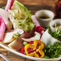 日替わりで楽しめる新鮮野菜
