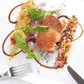 料理メニュー写真若鶏のグリルフレッシュ野菜のビネグレットソース