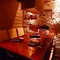 6名様テーブル席は飲み会や会社帰りの利用に人気です。