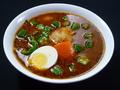 料理メニュー写真納豆とオクラのスープカレー