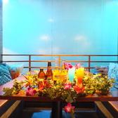 CAFEエリアにある滝が流れる半個室席。最大8名までOK★