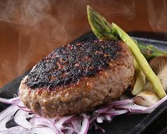 料理メニュー写真黒毛和牛ハンバーグ