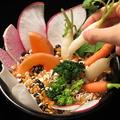 料理メニュー写真オーガニック野菜のバーニャカウダ