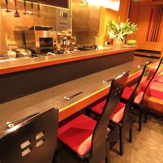 「お一人様大歓迎」1名様~OKのカウンター席は一番の特等席。デートにもご利用頂けるお席です。