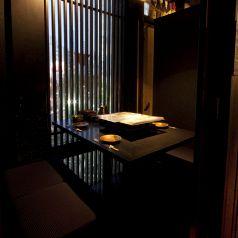 夜の新宿の夜景を見ながら完全個室でゆっくりとお過ごし下さい☆