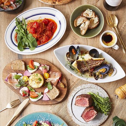 ステーキやアンティパスト、ワインを楽しむ全席ソファチェアのカフェ感覚バール♪