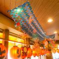 店内には季節に合った装飾が♪楽しい雰囲気を演出してくれます♪