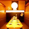半個室★【両側ソファ席/4~6名様×2】座り心地の良いお席でくつろぎながら楽しめる☆