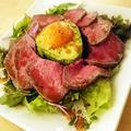料理メニュー写真ユッケスタイルのローストビーフ ~ Yukke style roast beef ~