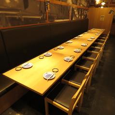 団体宴会はお任せください!こちらのお席は最大20名様までお座り頂けます。個室風ではなく、開けたスペースでございます。