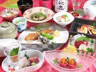 コース料理は会席スタイルでご提供。