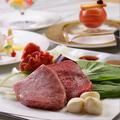 料理メニュー写真国産牛フィレステーキ 旬の焼き野菜