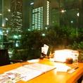 窓際の完全個室席☆みなとみらいの夜景を楽しみながらお食事できます♪