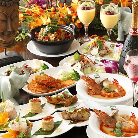 色鮮やかなお料理の数々…!! オシャレな店内で、モダン・タイ料理をどうぞ♪