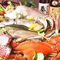 毎日仕入れる新鮮な旬の鮮魚や野菜達!