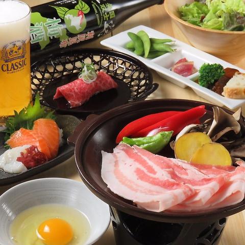 【和牛・鴨・豚・羊・鶏】5種食べ比べ肉まみれコース!!全8品+120分飲み放題 ☆3800円☆
