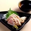 料理メニュー写真ムネ肉のお刺身