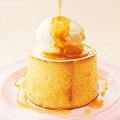 料理メニュー写真まるごとシフォン(バニラアイス&クリーム&メイプル)