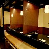 半個室席は4名様~♪大人数の対応も可能です。