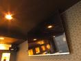 個室に大型モニター設置致しました!スポーツ観戦やカラオケにご利用頂けます。