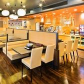 広々とした明るい店内です。ご家族や友達同士、少人数でのお食事にオススメです☆。ブッフェスタイルですので野菜・麺・ご飯・デザートは好きなだけお楽しみください♪※写真は系列店イメージです