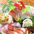 料理メニュー写真鮮魚五点盛り/三点盛り