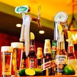 各種世界のビールやフローズンマルガリータを初めとするこだわりドリンクが充実♪