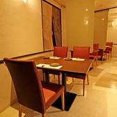 和の雰囲気のあるテーブル席