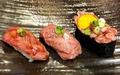 料理メニュー写真石垣牛炙り寿司3貫セット
