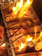 炉ばた料理の臨場感!