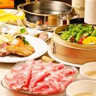 イベリコしゃぶしゃぶ&季節野菜のコース4200円
