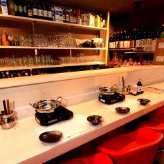 新たにお一人様用にカウンターもご用意しております!!980円でお一人鍋もスタートしております。ぜひ一度ご賞味下さい。