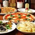 女子会に人気!お得な2時間飲み放題&1時間ピザ食べ放題コース3500円♪リーズナブルな価格で本格窯焼きピザを満足いくまでお楽しみいただけます。みんなでワイワイする女子会に最適です!貸切は10名様~OKお気軽にお問合せください。