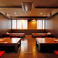 【2F/掘りごたつ個室】2階には10名様個室、18名様個室、24名様個室の3種類をご用意!