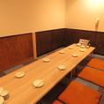 8名様までご利用可能な宴会個室。