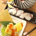料理メニュー写真まずこれセット【小】タコ鉄板焼き1人前+だし巻き1本(いくらorかに)