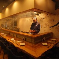【1F】焼き長の目の前でお食事できる臨場感溢れるカウンター席。