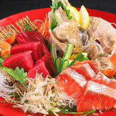 道内産の新鮮な魚介を使った『刺身3点盛り合わせ』