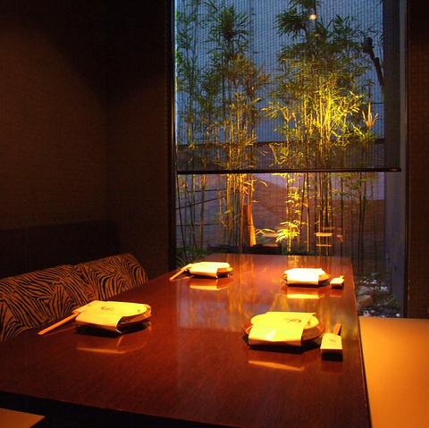 落ち着いた和の個室空間。記念日・お食事にもオススメです。