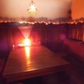 個室のソファー席は人気なので予約をおすすめします!お祝いのお食事や女子会、誕生日会などにぴったりのゆったりとしたスペースです♪