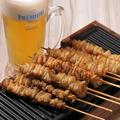 料理メニュー写真元祖とり皮(タレ・塩)
