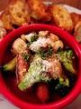 料理メニュー写真海老とソーセージのアヒージョ