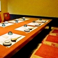 ご接待やご宴会などに便利な個室。室数に限りがございますので、事前のご予約をお願い致します。