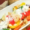 彩り鮮やかな逸品♪たっぷり野菜のソテーパルミジャーノ仕立て880円(税抜)