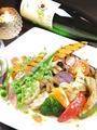 料理メニュー写真グリル野菜のプレート