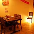 間接照明で雰囲気抜群!!MANDA自慢のビール・コース料理をお楽しみ下さいませ☆
